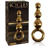 Anál dildó üvegből, arany kivitelű Icicles G10